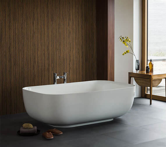 Clearwater Duo Clearstone Freestanding Bath 1550 x 950mm