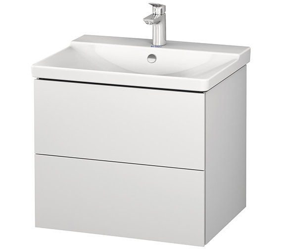 Duravit L-Cube 2 Drawer Wall Mounted Vanity Unit For P3 Comforts Basin