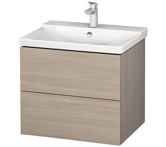 Additional image of Duravit L-Cube 620mm Wall Mounted Vanity Unit With P3 Comforts Basin