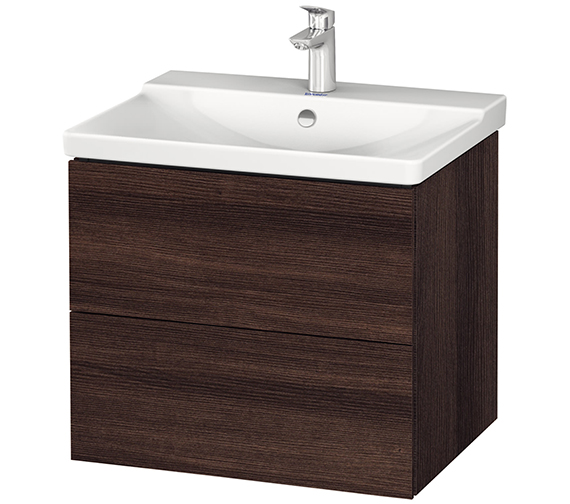 Alternate image of Duravit L-Cube 620mm Wall Mounted Vanity Unit With P3 Comforts Basin