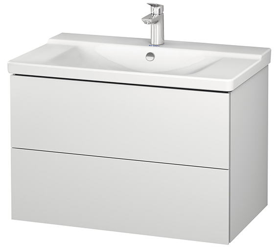 Duravit L-Cube 820mm Wall Mounted Vanity Unit With P3 Comforts Basin