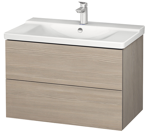 Additional image of Duravit L-Cube 820mm Wall Mounted Vanity Unit With P3 Comforts Basin
