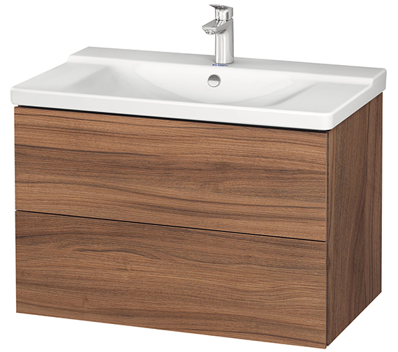 Alternate image of Duravit L-Cube 820mm Wall Mounted Vanity Unit With P3 Comforts Basin
