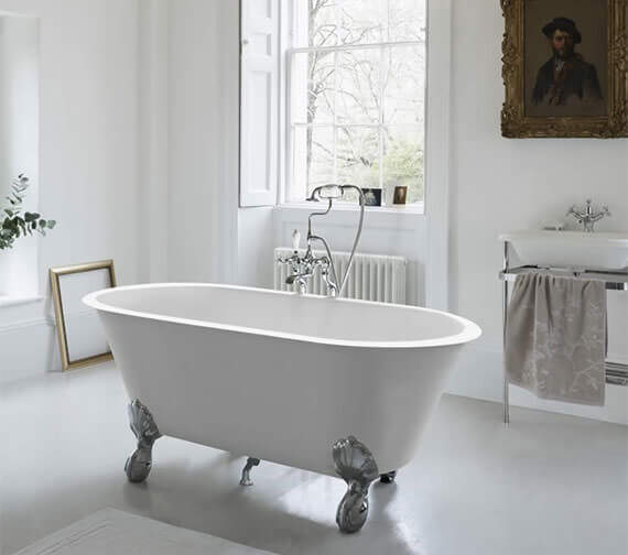 Clearwater Classico Grande 1690 x 800mm Clearstone Bath With Feet Option