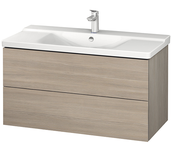Additional image of Duravit L-Cube 1020mm Wall Mounted Vanity Unit With P3 Comforts Basin