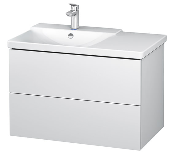 Duravit L-Cube 2 Drawer Vanity Unit For P3 Comforts Basin