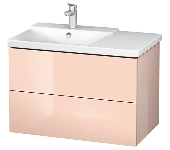 Alternate image of Duravit L-Cube 820mm White Matt Vanity Unit With P3 Comforts Basin - Bowl On Left