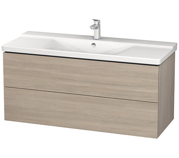 Additional image of Duravit L-Cube 1220mm Wall Mounted Vanity Unit With P3 Comforts Basin
