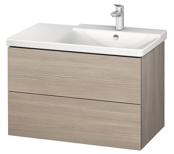 Additional image of Duravit L-Cube 820mm Vanity Unit With P3 Comforts Basin - Bowl On Right