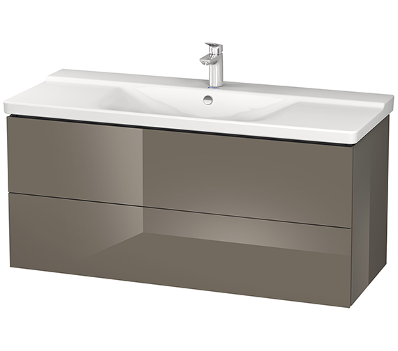 Alternate image of Duravit L-Cube 1220mm Wall Mounted Vanity Unit With P3 Comforts Basin