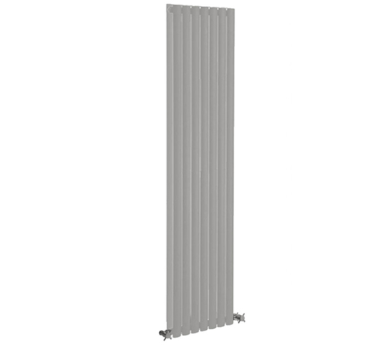 Reina Neva 1800mm Height Silver Double Panel Vertical Designer Radiator - More Width Available