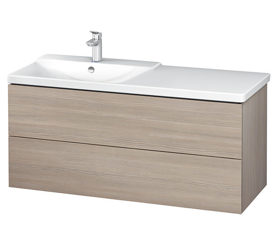 Additional image of Duravit L-Cube 1220mm Vanity Unit With P3 Comforts Basin - Bowl On Left