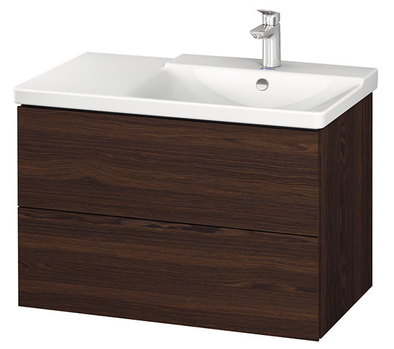 Alternate image of Duravit L-Cube 820mm Vanity Unit With P3 Comforts Basin - Bowl On Right