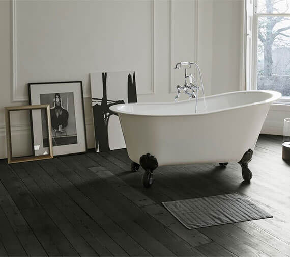 Clearwater Romano Petite 1524 x 787mm Clearstone Bath With Feet Option