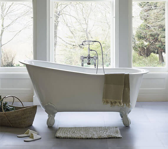 Clearwater Romano Grande 1690 x 750mm Clearstone Bath With Feet Option