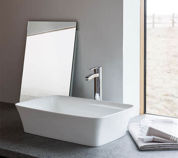 Clearwater Palermo ClearStone Countertop Basin 550 x 350mm