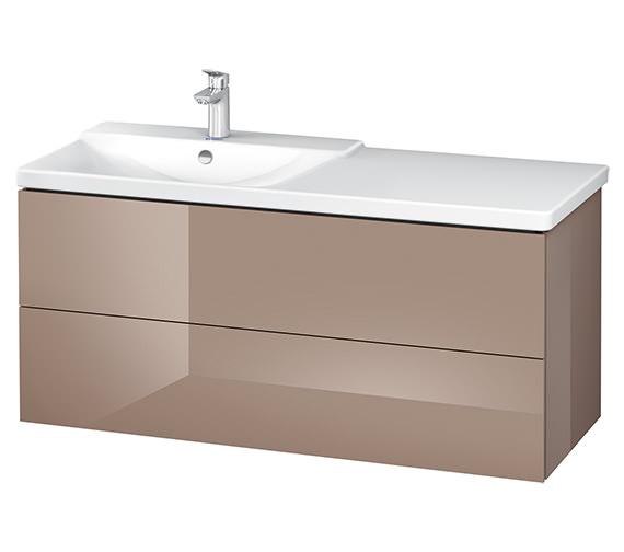 Alternate image of Duravit L-Cube 1220mm White Matt Vanity Unit With P3 Comforts Basin - Bowl On Left