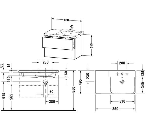 Technical drawing QS-V63348 / LC624901818