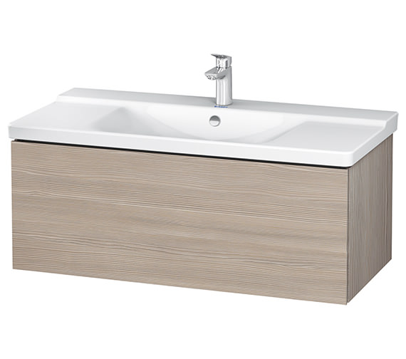 Additional image of Duravit L-Cube 1020 x 481mm 1 Drawer Wall Mounted Vanity Unit