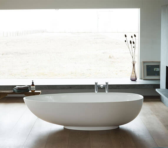 Clearwater Teardrop Petite Clearstone Freestanding Bath 1690 x 820mm
