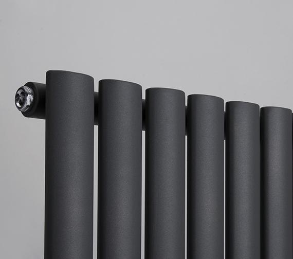 Alternate image of Reina Neva 1500mm High Single Panel Vertical Designer Radiator Anthracite Or White 236mm Wide