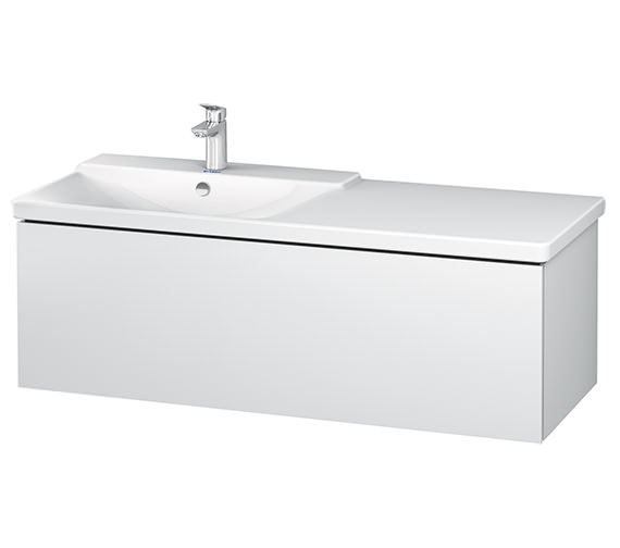 Duravit L-Cube 1220 x 481mm 1 Drawer Wall Mounted Vanity Unit