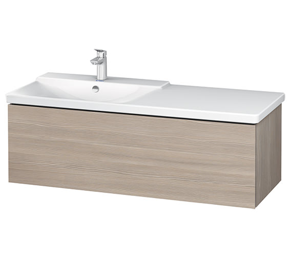 Additional image of Duravit L-Cube 1220 x 481mm 1 Drawer Wall Mounted Vanity Unit