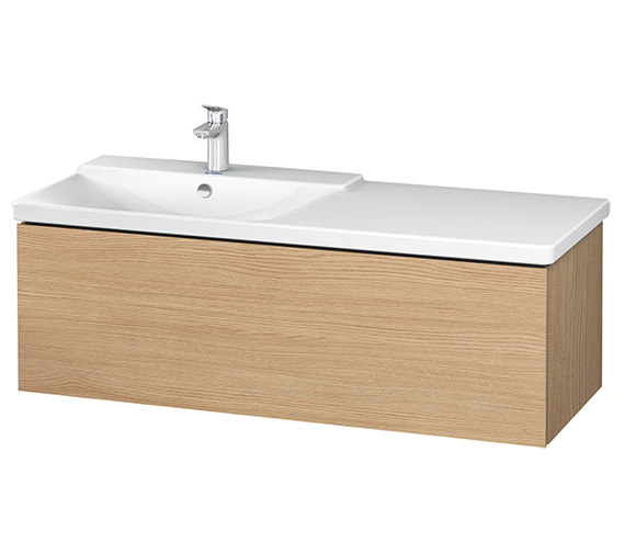 Alternate image of Duravit L-Cube 1220 x 481mm 1 Drawer Wall Mounted Vanity Unit