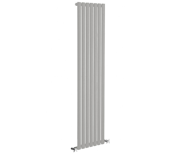 Reina Neva 1500mm High Silver Single Panel Vertical Designer Radiator