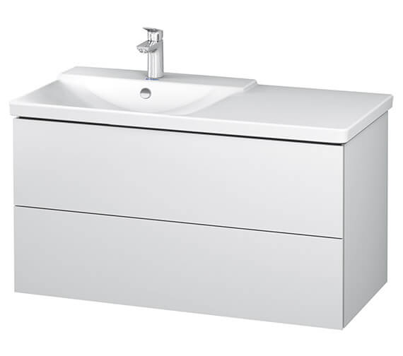 Duravit L-Cube 1020mm Vanity Unit With P3 Comforts Basin - Bowl On Left