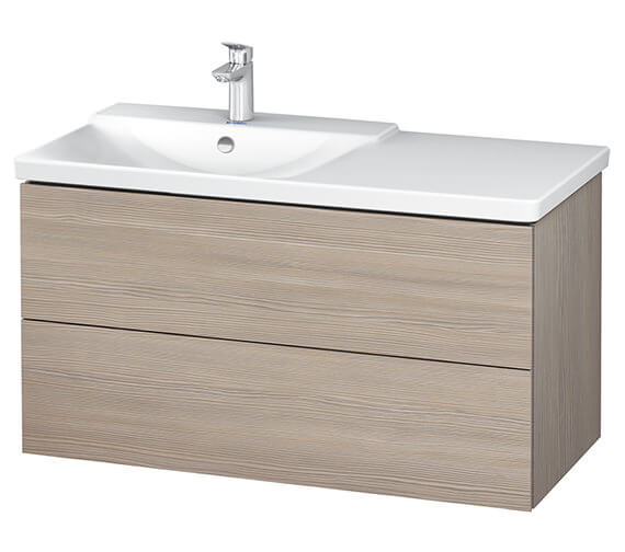 Additional image of Duravit L-Cube 1020mm Vanity Unit With P3 Comforts Basin - Bowl On Left