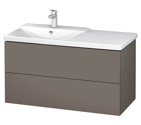 Alternate image of Duravit L-Cube 1020mm Vanity Unit With P3 Comforts Basin - Bowl On Left