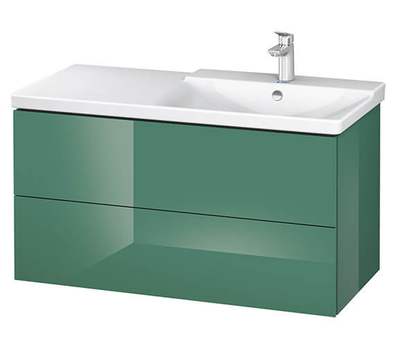 Alternate image of Duravit L-Cube 1020mm Vanity Unit With P3 Comforts Basin - Bowl On Right