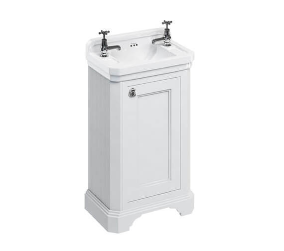 Burlington Freestanding 510mm 1 Door Unit With Edwardian Basin With 2 TH