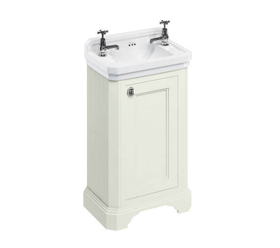 Alternate image of Burlington Freestanding 510mm 1 Door Unit With Edwardian Basin With 2 TH