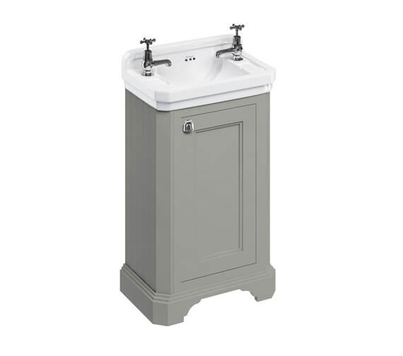 Additional image of Burlington Freestanding 510mm 1 Door Unit With Edwardian Basin With 2 TH