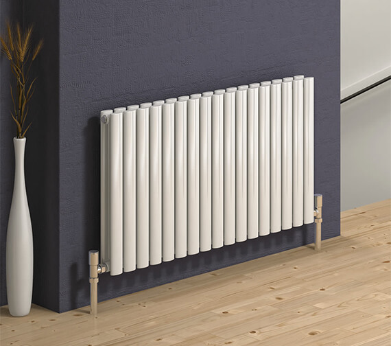 Reina Neva 550mm High Double Panel Horizontal Designer Radiator White Or Anthracite Finish