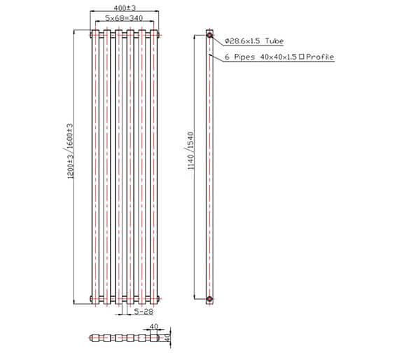 Technical drawing QS-V78352 / RA066