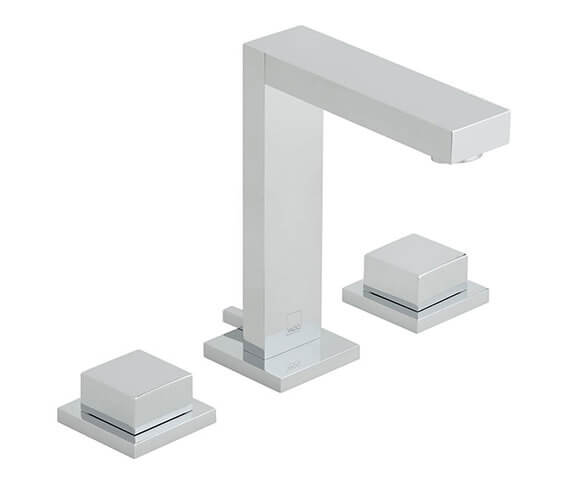 Vado Notion 3 Hole Basin Mixer Tap With Square Handles