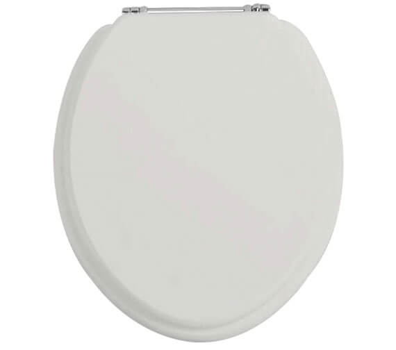 Alternate image of Heritage White Ash Soft Close WC Seat And Cover With Chrome Hinge