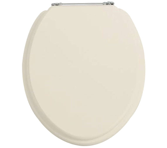 Additional image of Heritage White Ash Soft Close WC Seat And Cover With Chrome Hinge