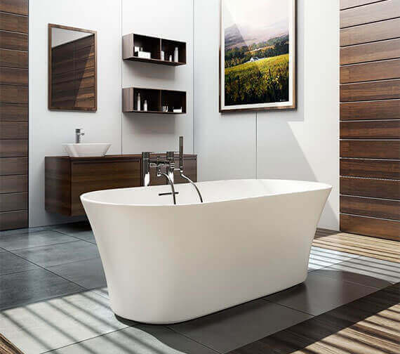 Clearwater Armonia Natural Stone Freestanding Bath 1550 x 750mm