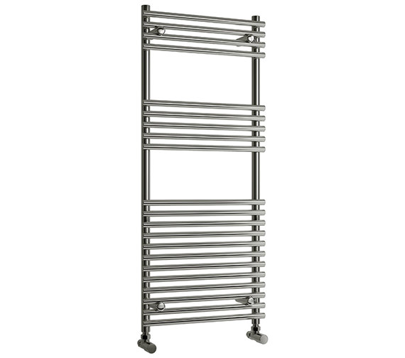 Reina Pavia 600 x 800mm Chrome Steel Designer Radiator - More Height Sizes Available