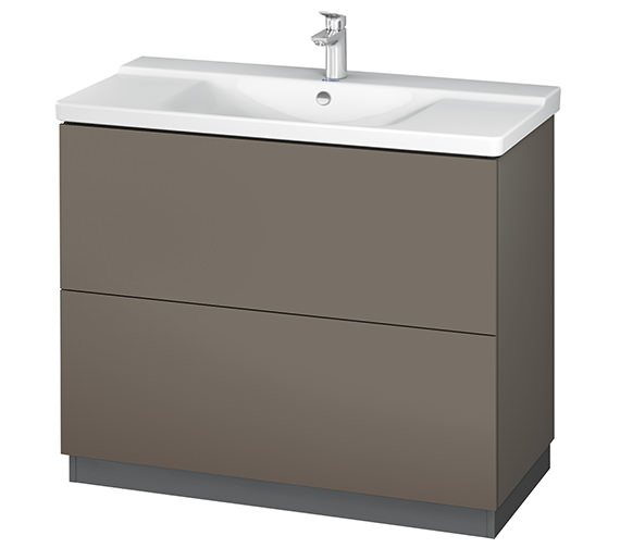 Alternate image of Duravit L-Cube 1020mm Floor Standing Vanity Unit With Plinth Panel