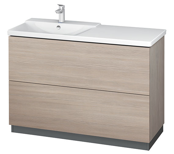 Additional image of Duravit L-Cube 1220mm Floor Standing Vanity Unit With Plinth Panel
