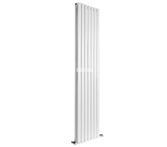 Alternate image of Reina Neva 1500mm High Double Panel Vertical Designer Radiator In Anthracite Or White Finish 236mm Wide