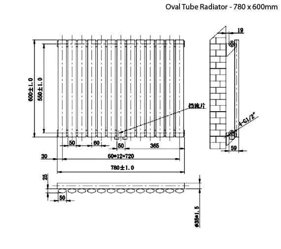 Technical drawing QS-V75911 / RA120