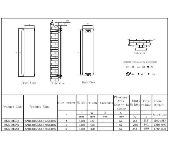 Technical drawing QS-V90634 / RND-RLE32A