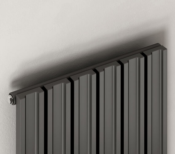 Additional image of Reina Raile 1800mm High Steel Designer Radiator Anthracite Or White