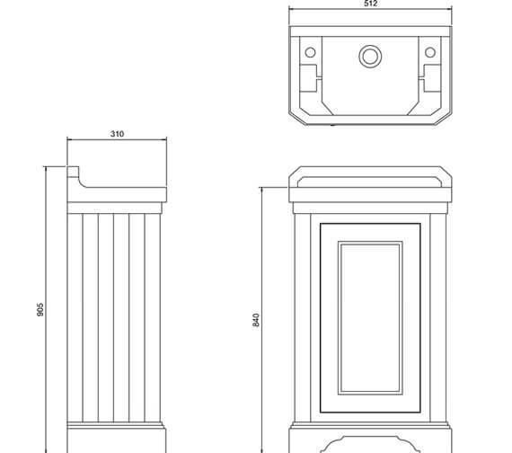 Technical drawing QS-V93080 / FC11W